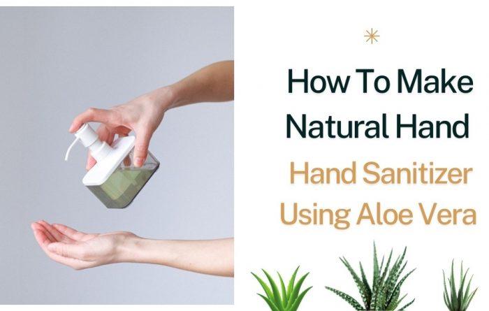 How To Make Natural Hand Sanitizer Using Aloe Vera